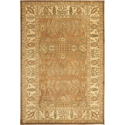 Bergama Light Brown/Beige Area Rug Rug Size: Rectangle 5 x 8