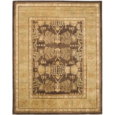 Bergama Brown/Green Area Rug Rug Size: Rectangle 9 x 12