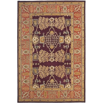 Bergama Red/Rust Area Rug Rug Size: Rectangle 5 x 8