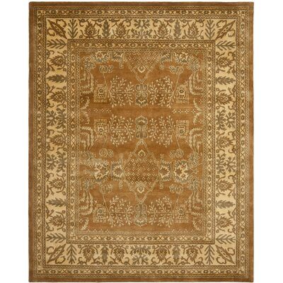 Bergama Light Brown/Beige Area Rug Rug Size: Rectangle 9 x 12