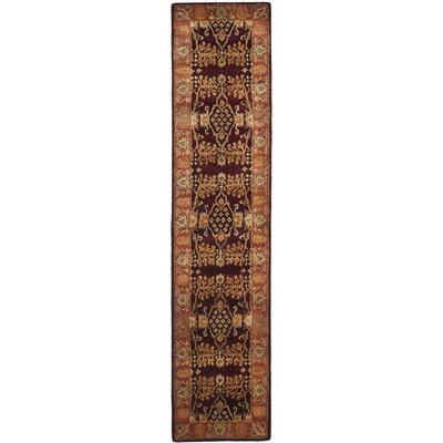 Bergama Red/Rust Area Rug Rug Size: Runner 23 x 8