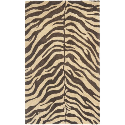 Bergama Beige/Brown Area Rug Rug Size: Rectangle 4 x 6