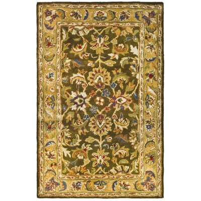 Classic Olive / Camel Area Rug