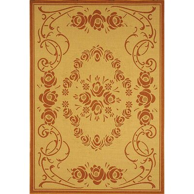 Courtyard Natural/Terra Outdoor Rug Rug Size: 4' x 5'7