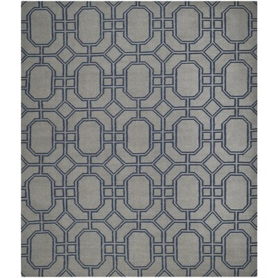 Dhurries Hand-Woven Wool Gray/Blue Area Rug Rug Size: Rectangle 9 x 12