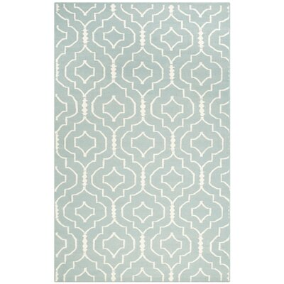 Masaryktown Hand-Woven Wool Light Blue/Ivory Area Rug Rug Size: Rectangle 6 x 9