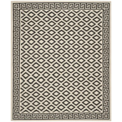 Dhurries Brown/Ivory Area Rug Rug Size: 9 x 12