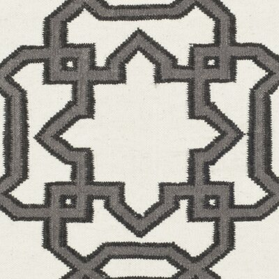 Kata Hand-Woven Wool Ivory/Gray Area Rug Rug Size: Rectangle 4 x 6