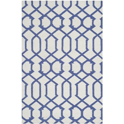 Dhurries Ivory/Purple Rug Rug Size: 3 x 5