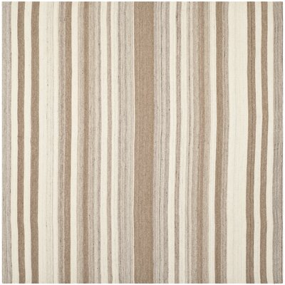 Dhurries Wool Natural/Camel Area Rug Rug Size: Square 16
