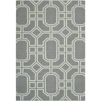 Dhurries Grey/Light Blue Area Rug Rug Size: 3 x 5