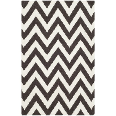 Dhurries Brown/Ivory Area Rug Rug Size: 8 x 10