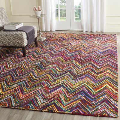 Nantucket Chevron Area Rug Rug Size: Square 4'