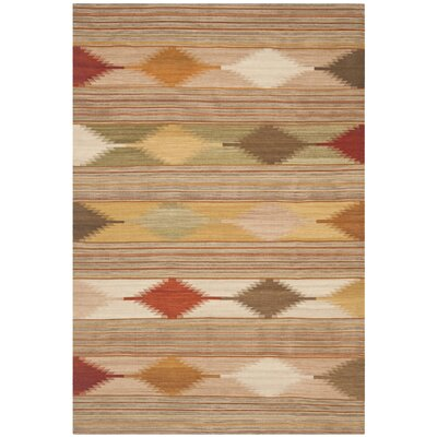 Vacaville Brown & Tan Area Rug Rug Size: Runner 23 x 14
