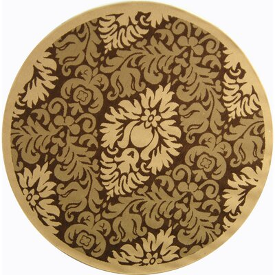 Courtyard Brown/Natural Outdoor Rug Rug Size: Round 6'7
