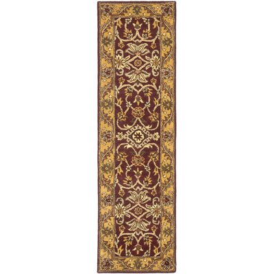 Golden Jaipur Burgundy/Gold Area Rug Rug Size: Runner 23 x 14