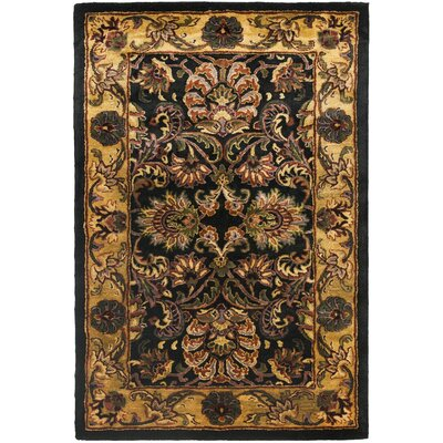 Golden Jaipur Antiquity Black/Gold Area Rug Rug Size: Rectangle 36 x 56