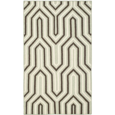 Dhurries Grey/Beige Area Rug Rug Size: 4 x 6