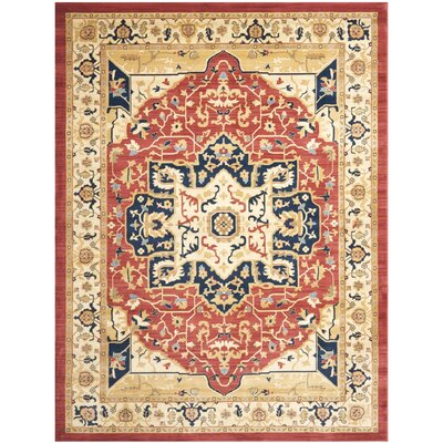 Austin Red and Creme Rug Rug Size: 9'6