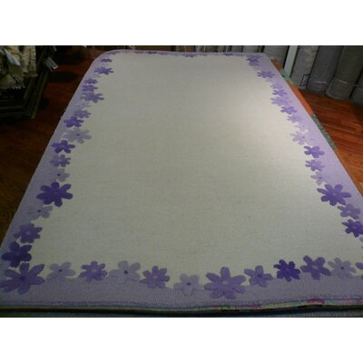 Claro Ivory / Lavender Kids Rug Rug Size: Rectangle 3 x 5