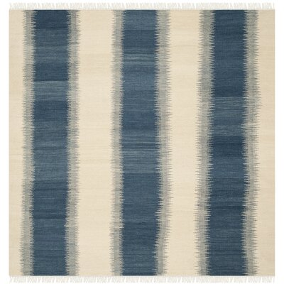 Brook Lane Blue & Ivory Area Rug Rug Size: Square 7