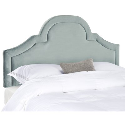 Kerstin Arched Upholstered Panel Headboard Size: Twin, Color: Wedgwood Blue, Upholstery: Cotton