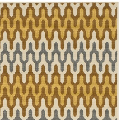 Hampton Camel Outdoor Area Rug Rug Size: Runner 27 x 5