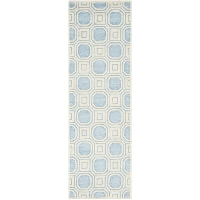 Precious Mist Blue/Beige Outdoor Area Rug Rug Size: Rectangle 8 x 10
