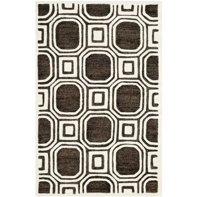 Precious Charcoal Rug Rug Size: 8 x 10