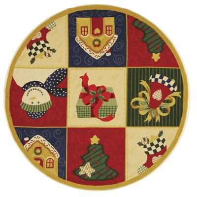 Kinchen Chirstmas Day Novelty Rug Rug Size: Round 56