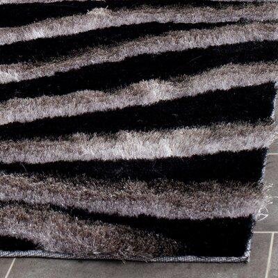 Shag Black/Grey Area Rug