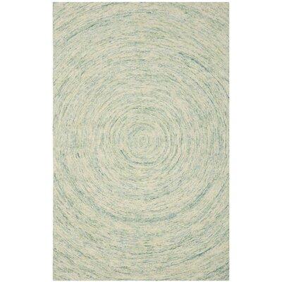Ikat Ivory/Blue Area Rug Rug Size: 4' x 6'