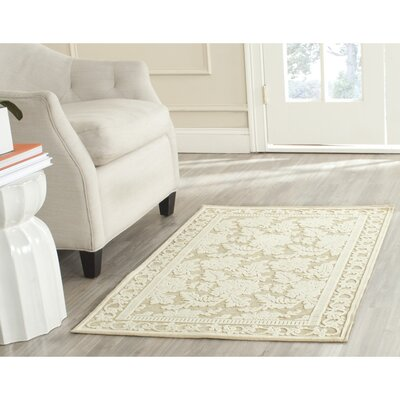 Martha Stewart Peony Creme Area Rug Rug Size: Rectangle 53 x 76