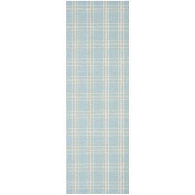Kilim Light Blue / Beige Tribal Rug Rug Size: Runner 23 x 7