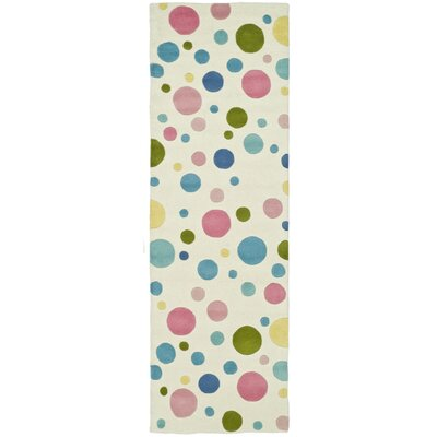 Soho Pastel Hand-Tufted Blue Area Rug Rug Size: Runner 26 x 8