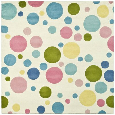 Soho Pastel Hand-Tufted Blue Area Rug Rug Size: Square 6