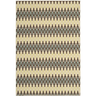 Hampton Grey/Ivory Outdoor Area Rug Rug Size: 8 x 11