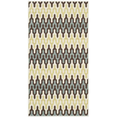 Hampton Grey/Ivory Outdoor Area Rug Rug Size: Runner 2'7