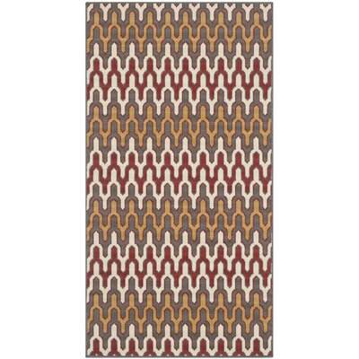 Kelston Dark Grey/Rust Indoor/Outdoor Area Rug Rug Size: Rectangle 27 x 5
