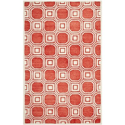 Precious Rose Rug Rug Size: Rectangle 4' x 6'