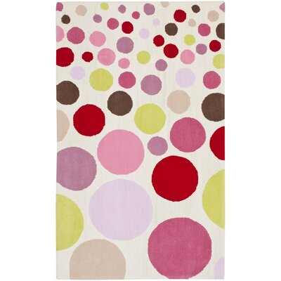 Claro Polka Dots Ivory / Multi Rug Size: 3 x 5
