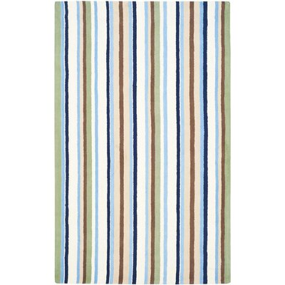 Claro Blue/Beige Area Rug Rug Size: Rectangle 8 x 10