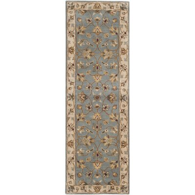 Royalty Blue/Beige Rug Rug Size: Runner 23 x 9
