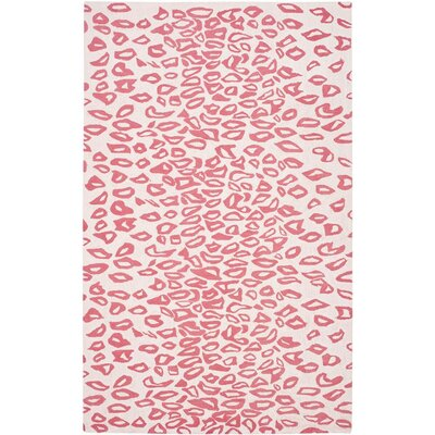 Claro Ivory / Red Rug Size: 4 x 6