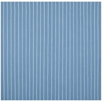 Dhurries Blue Area Rug Rug Size: Square 6