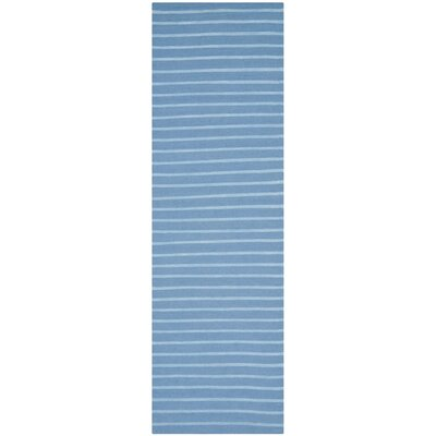 Dhurries Blue Area Rug Rug Size: Runner 26 x 6