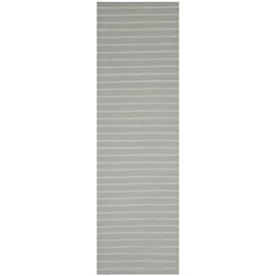 Dhurries Grey Area Rug Rug Size: Runner 26 x 6