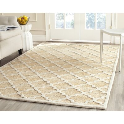 Precious Hand-Tufted Cotton Beige Area Rug Rug Size: Square 5
