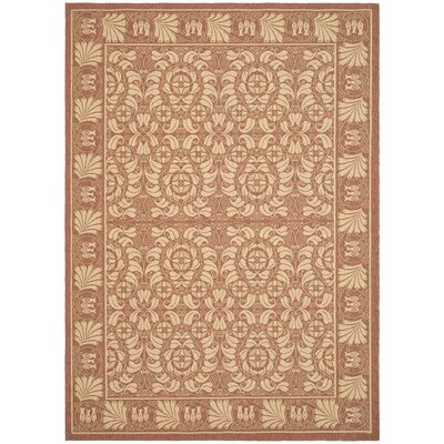 Shani Rust/Sand Outdoor Rug Rug Size: Rectangle 710 x 11
