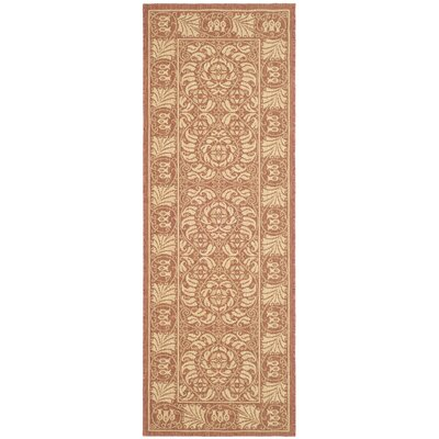 Shani Rust/Sand Outdoor Rug Rug Size: Runner 27 x 82